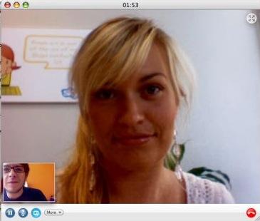 Elle est belle la video sur Skype !!!