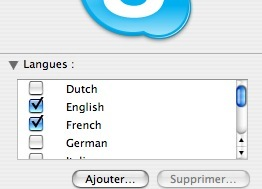 Skype pour Mac OSx