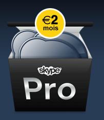 Skype Pro à 2 euros par mois !