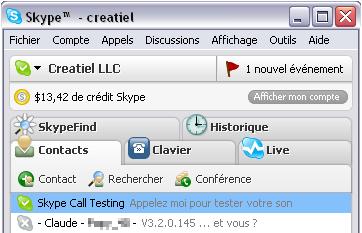 Skype version 3.2 pour Windows ...